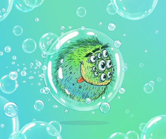Bacillus B0b on bubble-transport Art Print