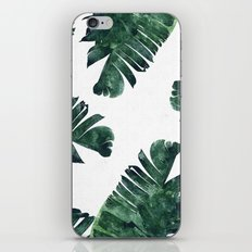 Banana Leaf Watercolor Pattern #society6 iPhone & iPod Skin