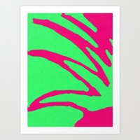 Green Pink Pattern Art Print