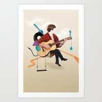 ILOVEMUSIC #1 Art Print