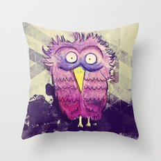 An Owl with wide Eyes Throw Pillow