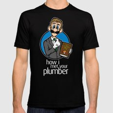How I Met Your Plumber Mens Fitted Tee Black SMALL