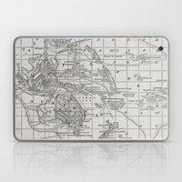 Vintage Oceania Map Laptop & iPad Skin