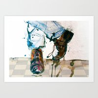 shoes Art Prints featuring Shoes by MardyArts