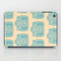 I Still Shoot Film Holga Logo - Reversed Turquoise/Tan iPad Case