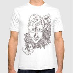 Incognito White SMALL Mens Fitted Tee