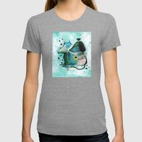 Bartukas friend Womens Fitted Tee Tri-Grey SMALL