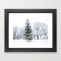 Finnish winter Village Fiskars Framed Art Print