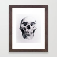 Skull Drawing Framed Art Print