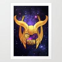 Odin - the Ruler Art Print