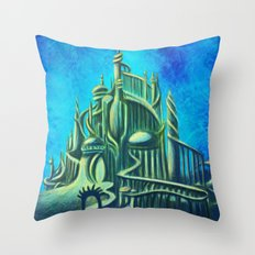Mysterious Fathoms Below Throw Pillow