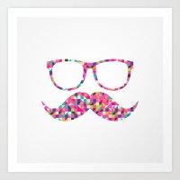 Funny Girly Pink Abstrac… Art Print