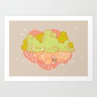 Music Cloud Art Print