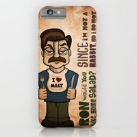iPhone & iPod Case featuring Ron Swanson 2 by maykel nunes