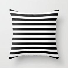 Modern Black Stripes Throw Pillow