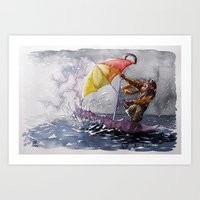 Umbrella Man Art Print