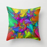 Explosion In A Paint Fac… Throw Pillow
