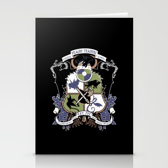 Dragon Training Crest - How to Train Your Dragon Stationery Card