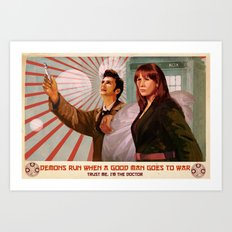 Doctor Who Propaganda Poster Art Print
