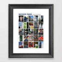 Wicker Park Neighborhood Poster Framed Art Print