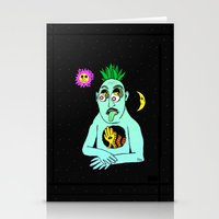Trippy Face Stationery Cards