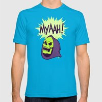Myaah! Mens Fitted Tee Teal SMALL