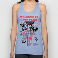 Twin Peaks Map Unisex Tank Top