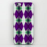 Purple Diamonds iPhone & iPod Skin