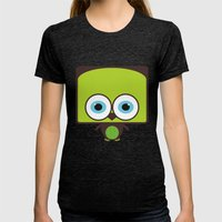 Owl Womens Fitted Tee Tri-Black SMALL