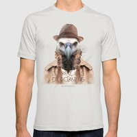 Vautour Mens Fitted Tee Silver SMALL