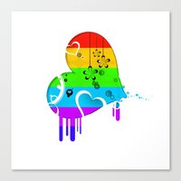 Rainbow Love Canvas Print