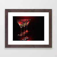 Red Hot Martinis. Framed Art Print