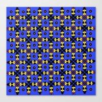 Beetles Pattern Canvas Print