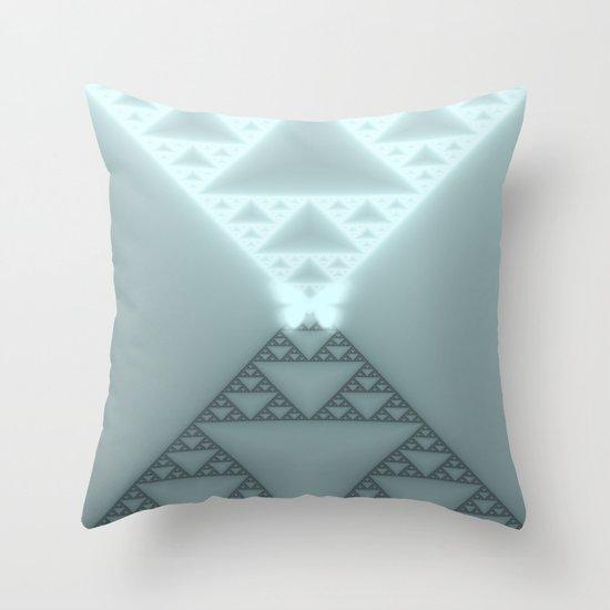 Triangles Glow Throw Pillow
