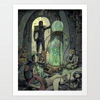 Dredd Drug Bust Art Print