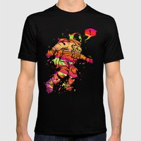 Spaced out Mens Fitted Tee Black SMALL