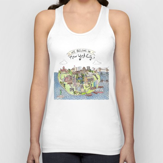 New York City Love Unisex Tank Top