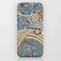 iPhone & iPod Case featuring Waves of tradition-olive by Marica Zottino