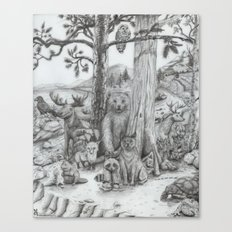Woodland Friends Canvas Print