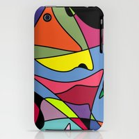 iPhone 3Gs & iPhone 3G Cases featuring Colorful Abstract by Regan's World