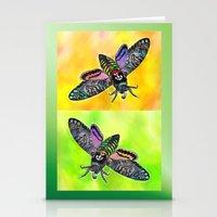 Goth Moth Stationery Cards