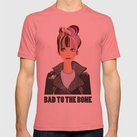 Punk Girl  Mens Fitted Tee Pomegranate SMALL