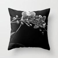 Dendrobium Throw Pillow