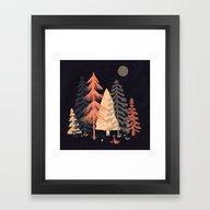 A Spot In The Wood... Framed Art Print