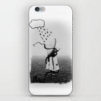 Holding Umbrella iPhone & iPod Skin