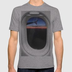 Airplane Window Mens Fitted Tee Athletic Grey SMALL