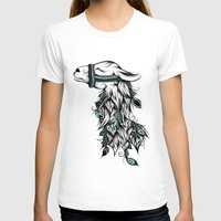 Poetic Llama  Womens Fitted Tee White SMALL