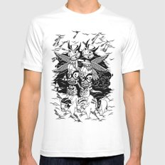 The Myth of Totummy White SMALL Mens Fitted Tee