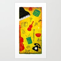 Music and Noise Art Print