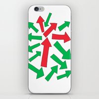 red arrow over green iPhone & iPod Skin